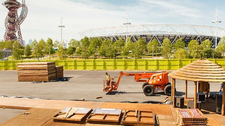 The sand is imported into Queen Elizabeth Olympic Park