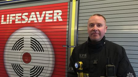 Firefighter Steve McDermott, of Hornchurch, who helped to treat victims in the aftermath of the Tavi