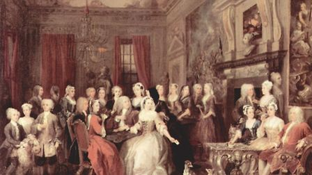 Assembly at Wanstead House, by William Hogarth