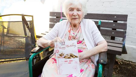 Violet Pavey celebrates her 102nd birthday at Manor Farm Care Home