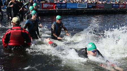 The Great Newham London Swim takes place in Royal Victoria Dock today