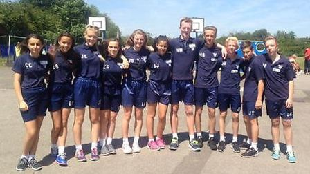 Redden Court's year nine leaders at the Harold Court sports day