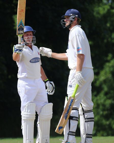 Hornchurch captain Roy Smith (left) and Paul Walter have scored plenty of runs together recently (pi