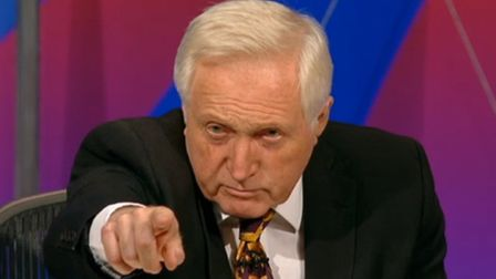 Question Time host David Dimbleby. Picture: Contributed