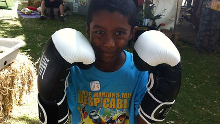 Priyan Rajamohan, 6, tries out boxing with ActiveNewham