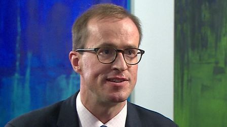 Vote Leave's Matthew Elliott in his interview with the BBC's Laura Kuenssberg. Picture: Contributed