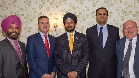 Jas Athwal, MP Wes Streeting, Cllr Singh Bola, Indian High Commission First Secretary, Ashish Sharm