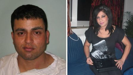 Jamshaid Khan, left, was found guilty of murdering his wife Milena Yulianova, right