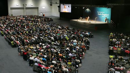 Visitors at the Jehovah's Witness event held at the Excel centre last year