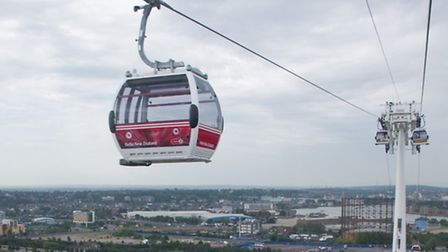 The Emirates Air Line cable car.