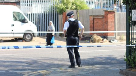 Police were called to reports of a shooting in Green Lane, Goodmayes, this morning. Picture: Ajay Nair