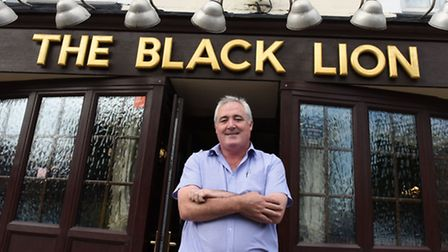 Tom Friel, landlord of the Black Lion in Plaistow. Landlords across the area are concerned about the