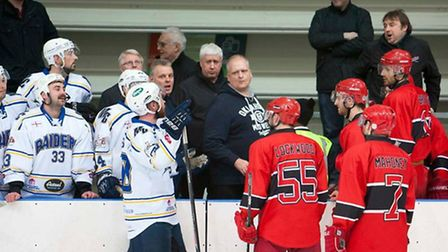 Words are exchanged between London Raiders and Streatham Redskins last season (pic: John Scott)