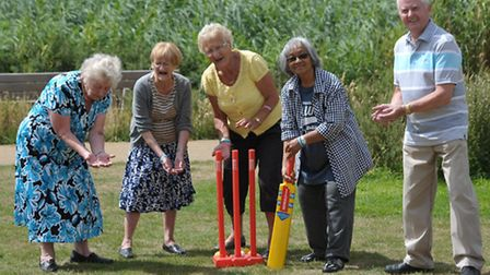 Get active elderly members on the cricket pitch