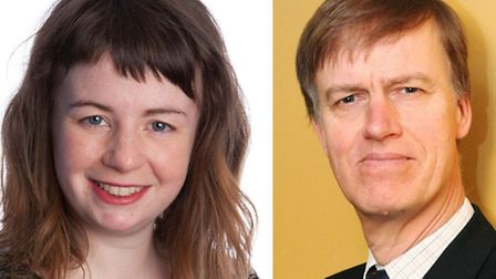 Left, Rachel Collinson of the Green Party criticised Stephen Timms, right, for being weak on Tory re