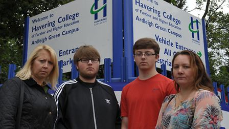 Coral Knockton with son Oscar and Amanda Stone with son Jake at the college