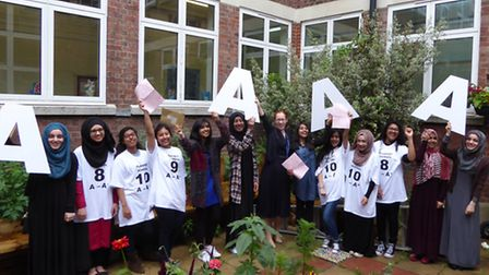 Plashet School students celebrate their A and A* grades