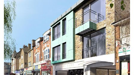 The proposed development in High Street, Wanstead. Picture: arc7