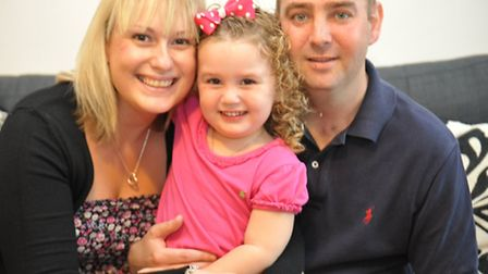 Theresa and Rob Mottram with daughter Lily-May