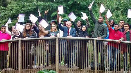 NewVIc students celebrate their A-level success