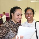 Proud mum Amrit Somal with her daughter, 16-year-old Amanjit, who had three A* and seven As and will