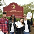 Brittons Academy celebrated their most successful GCSE results ever with 57 per cent of students gai