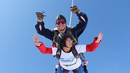 Rosalind Butler taking part in the skydive