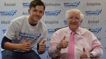 Rhys Butler with Jack Petchey