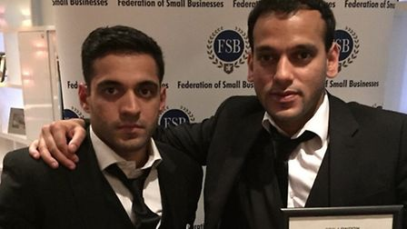 Shubber Raja (Left) and brother & business partner Ali Raja (Right)