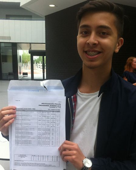 Mohammed Juned Uddin was pleased with his grades at Chobham Academy