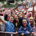 The crowd watching Ella Eyre performing on the MTV Stage, during the V Festival at Hylands Park in C