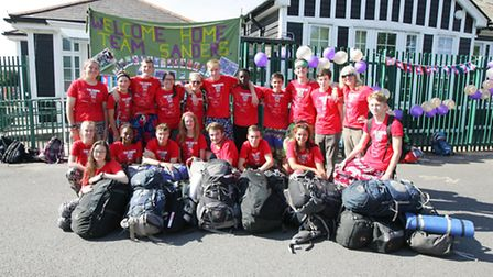 Students from Sanders School have been on a world challenge month in Cambodia where they have been t
