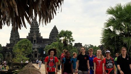 The group visited the ancient temples of Angkor Wat in Siem Reap, Cambodia