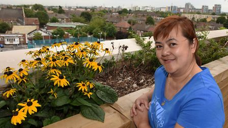 Maria Corpuz has moved into Hallsville Quarter with her family