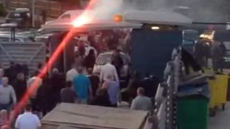 Mass brawl breaks out during match between Thamesmead and Clapton FC (@LiamNAsh1)