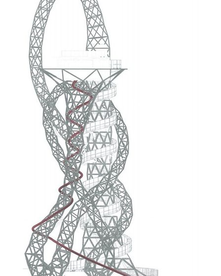 Where the ArcelorMittal Orbit slide will be situated (picture: Bblur Architects)