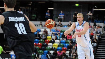 Dan Clark in action for GB against New Zealand (pic: Graham Hodges)