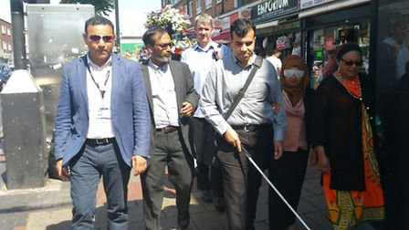 Councillors walk through Newham blindfolded