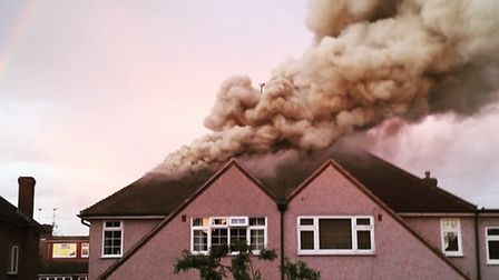 A house was struck by lightning. Picture: Ben Palmer
