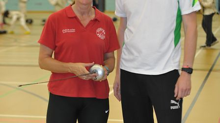Newham Swords Fencing Club founder and manager Linda Strachan with news editor Freddy Mayhew
