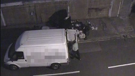 CCTV footage of the fly-tip in Dukes Road