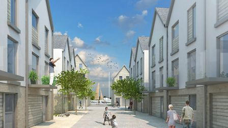AFTER: A view of the residential area of the Lake Lothing scheme in the architect's view of the deve