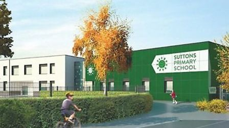 An artist's impression of the new building for Suttons Primary School. The school's redevelopment pl