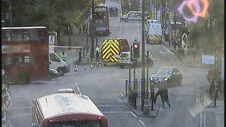 Serious collision in Romford Road Picture: @TFLTrafficNews