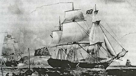 East Indiaman Dutton (1781) taking a pilot off Dover, by Robert Dodd. Picture: National Maritime Mus