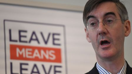 Jacob Rees-Mogg at a Leave Means Leave event. Photograph: Stefan Rousseau/PA.