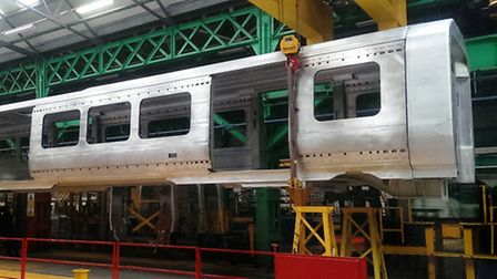 The first Crossrail carriage has been unveiled