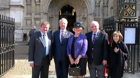 Romford-based charity Veterans of War at a Westminster Abbey service marking the 75th anniversary of