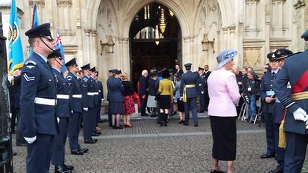 A Westminster Abbey service marking the 75th anniversary of the Battle of Britain. Picture: Denise S