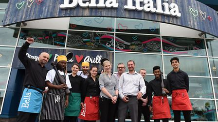 Beckton's Bella Italia staff will greet diners at the new restaurant with free food on Tuesday